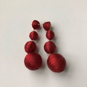 Jewelry - Red ball statement earring